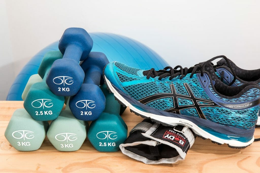 Gym shoes and weights , top new gym deals